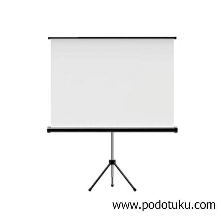 "Tripod Screen 70""x70""."